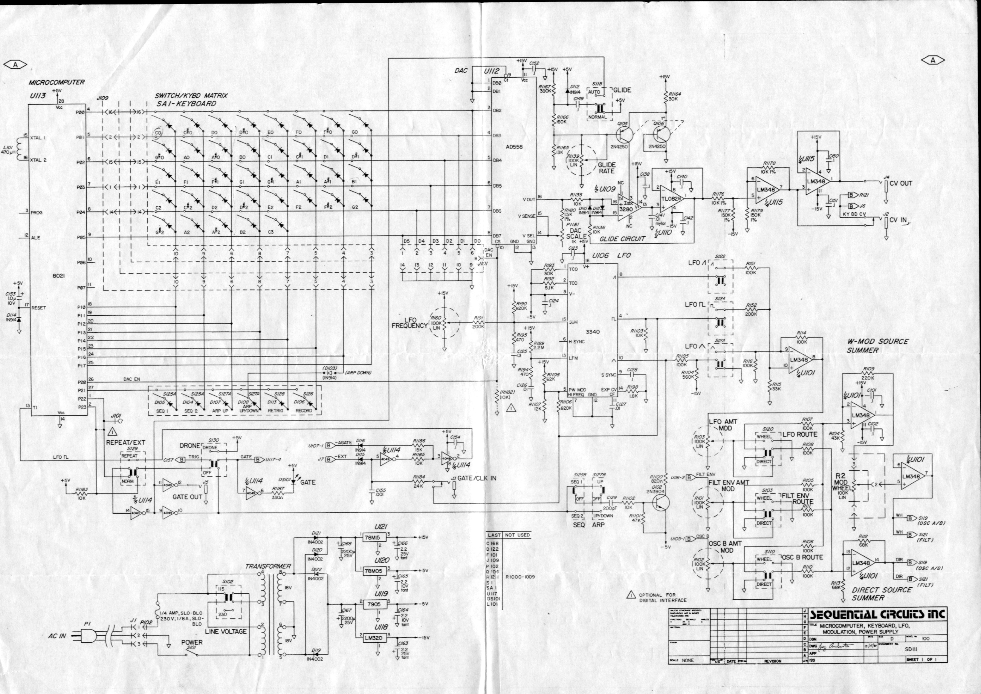 Sequential Circuits Pro One Schematic 1 of 2 index of flat Basic Electrical Wiring Diagrams at webbmarketing.co